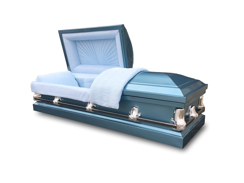 Empire Blue 20 Gauge Steel Casket
