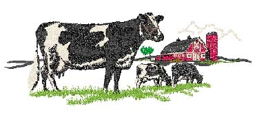 Holstein Scene Head Panel Insert
