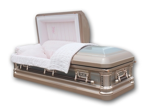 Pearl Rose - 18 Gauge Steel Casket