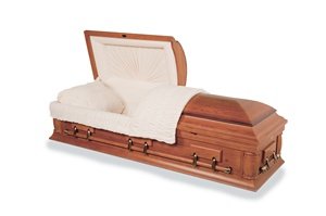 Rustic Oak - Solid Wood Casket