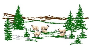 Scenery Uinta Sheep Head Panel Insert