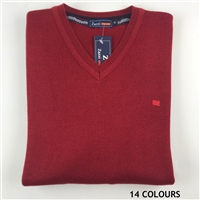 ZAZZI Wool Acrylic V Neck Jumper - 01-8874