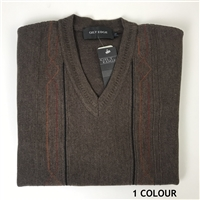 GILT EDGE Wool Acrylic V Neck
