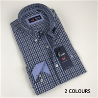 ZAZZI Check Casual Shirt With Contrasts