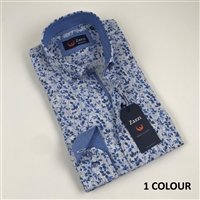 ZAZZI Casual Shirt With Contrasts