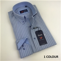Zazzi Striped Casual Shirt With Contrasts