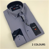 ZAZZI Printed Casual Shirt With Contrasts