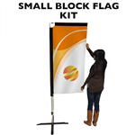 SMALL CUSTOM PRINTED BANNER FLAG KIT (DOUBLE-SIDED)