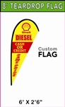 SMALL CUSTOM PRINTING TEARDROP FLYING BANNER FLAG