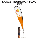 LARGE CUSTOM PRINTING TEARDROP FLYING BANNER FLAG KIT (Single-Sided)