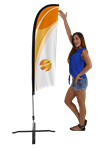 EXTRA SMALL CUSTOM PRINTING FEATHER FLYING FLAG KIT (Single-Sided)