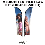 MEDIUM CUSTOM PRINTING FEATHER FLYING BANNER FLAG KIT (Double-Sided)