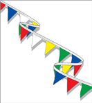 CHECKERED BUNTING FLAG STRING - TRIANGLE