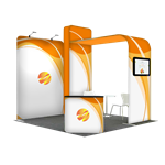 Tension Fabric Display Booth C - 10ft wide