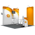 Tension Fabric Display Booth G - 10ft wide