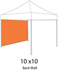 SOLID COLOR BACK WALL/SIDE WALL FOR 10x10 POP-UP TENT