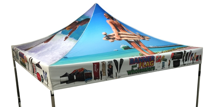 10 X 10 CUSTOM PRINTED CANOPY COVER FOR EVENT TENT FRAME  sc 1 st  Banner and Flag Wholesalers & X 10 CUSTOM PRINTED CANOPY COVER FOR EVENT TENT FRAME
