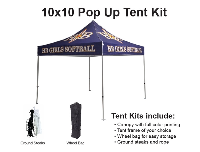 sc 1 st  Banner and Flag Wholesalers & 10 X 10 POP-UP EVENT TENT W/ STOCK CANOPY- LUXURY AUTO DEALER LOGOS