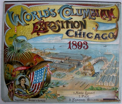 "SOLD  - 1893 COLUMBIAN EXPOSITION CHICAGO WORLD'S FAIR POP-UPSOLD - This item is for reference only, to find available movable books, see category ""Books for Sale"""