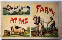 At The Farm – Antique un-punched movable book Saafield