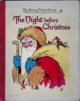 SOLD - Night Before Christmas - 1914 - The Moving Picture Books - Movable book