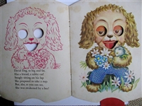 Antique Movable Pull-Tab cut-out book - Eyes Open, Eyes Shut