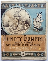 "This is a transformation book. The ""magic colored pictures"" are half illustrations, which transform that portion of the picture to the second part of the verse. Humpty Dumpty. : Magical changes with Mother Goose Melodies"