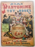 Dean & Son Home Pantomime Toy Books with Five Set Scenes & Nine Trick Changes: Whittington and His Cat - Original dean 1879 softcover in very good condition