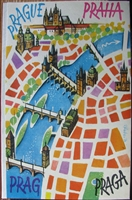 Prague Praha Prag Praga pop-up book by Kubasta