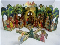 Kubasta Nativity Vanocni Betlem pop-up sene
