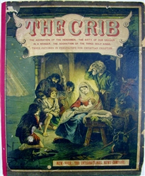 Die Krippe origianl antique pop-up book - (The Crib) J.F. Schreiber