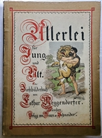 Antique Movable Book Meggendorfer  Allerlei fur Jung und Alt - First German edition. With 8 movable color-lithographed plates