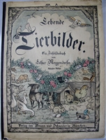 Antique Movable Book Meggendorfer Lebende Thierbilder