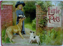 Nister - Little Pets Panorama Pictures - 1800's pop-up book - complete
