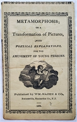 Antique harlequinade or Turn-up book: Metamorphosis; or a Transformation of Pictures, with Poetical Explanations, for the Amusement of Young Persons 1814