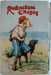 "Raphael Tuck - Panorama book - unpunched! ""Robinson Crusoe"""