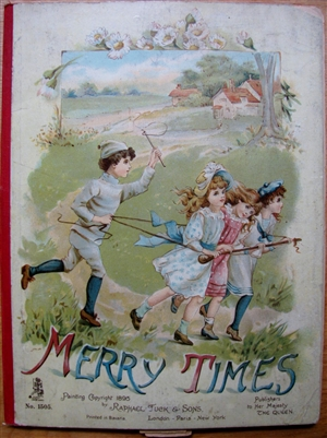 Antique Movable Book Raphael Tuck - Merry Times