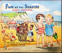 Raphael tuck fun at the seaside panorama with Movable Pictures