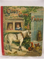 Raphael Tuck Cozy Cot Farm 1800's Tuck pop-up book