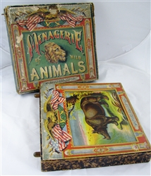 McLoughlin Bros. Wild Animal Panorama in slipcase