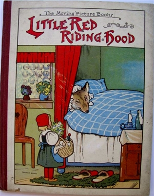 Antique movable book  Little Red Riding Hood - The Moving Picture Books