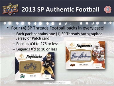 PICK A PACK 2013 SP Authentic Football