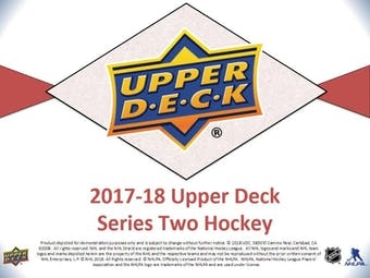 PICK A PACK 2017-18 Upper Deck Hockey Series 2