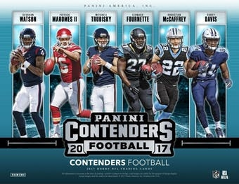 2017 Contenders Football Case Break FILLER #19