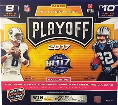 PICK A PACK 2017 Playoff Football MEGA Box