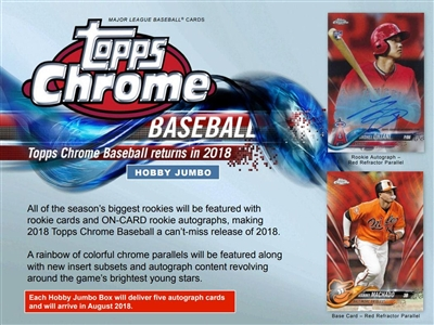 PICK A PACK 2018 Topps Chrome Baseball JUMBO