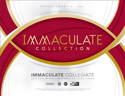 2019 Immaculate College Serial Numbered Case #7 (1 Spot) Old School Style