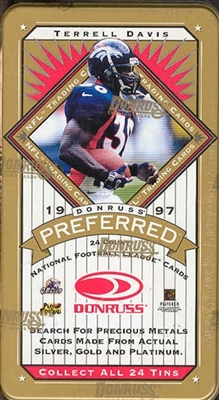 PICK A PACK 1997 Preferred Football Tin