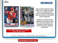 PAP 2019 Topps Chrome Baseball JUMBO #25