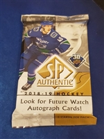 Dead Pack 2018-19 SP Authentic Hockey